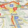 Map of Zurich